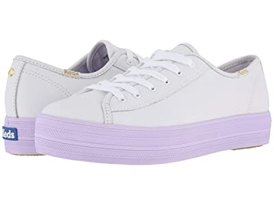 Keds x kate spade new york Triple Kick Leather Color Block (White/Purple) Women