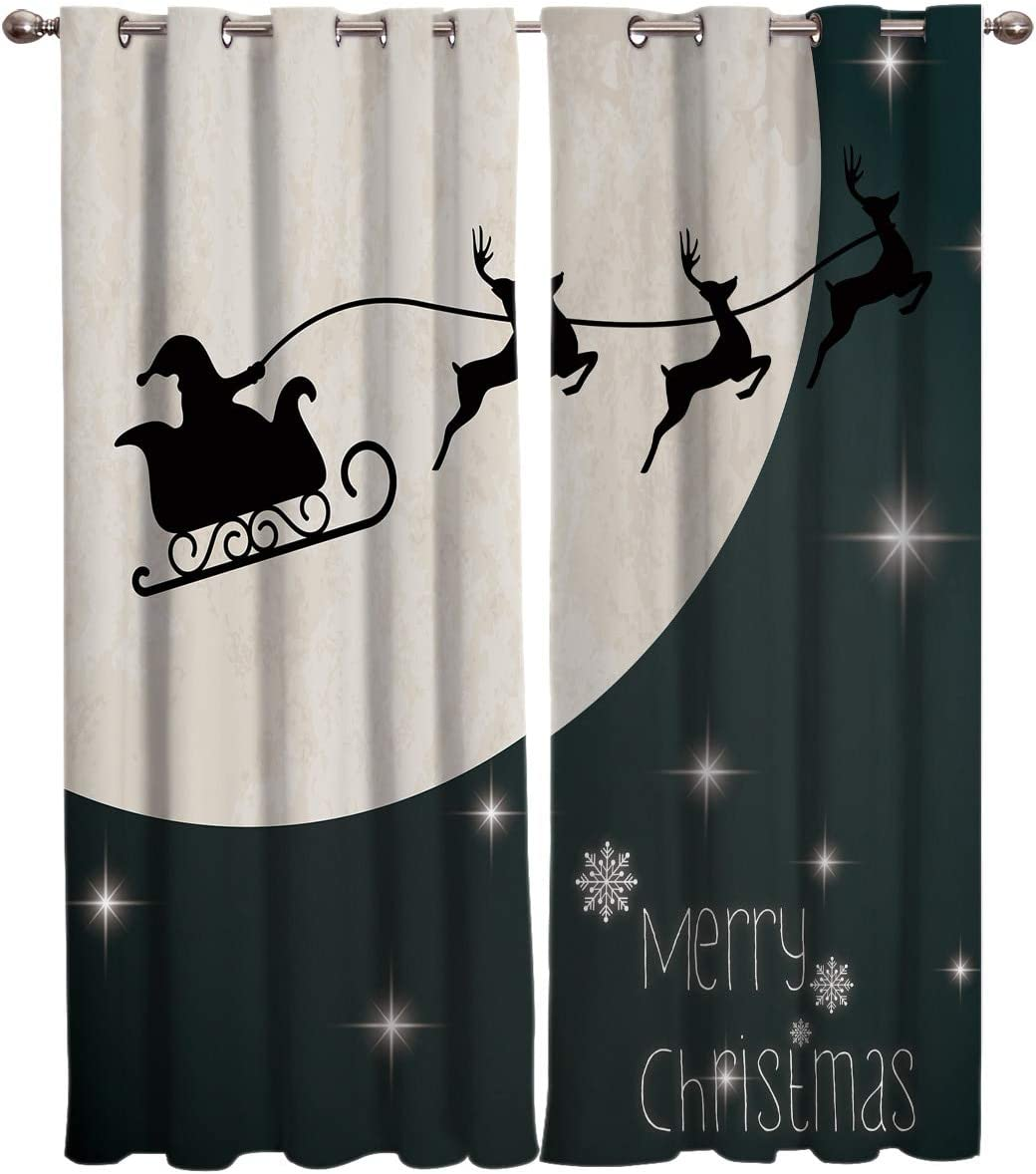 YUANCHENG Santa Claus in A Val Curtains Sleigh Window Max Philadelphia Mall 75% OFF Treatments