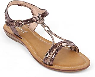 e7d34d0e5b9af Women s T-Strap Open Toes One Band Ankle Strap Soft Leather Summer Flat  Sandals Shoes