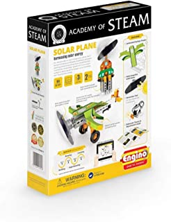 Engino - Academy of STEAM Toys | Solar Plane: Harnessing Solar Energy - Building Toys and Learning Activities (2 Model Options)