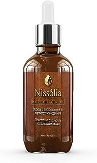 Olio per capelli Rigenerante e Idratante Trattamento A Base Di Collagene con Olio di Argan, Olio di Jojoba, Olio di Ricin...
