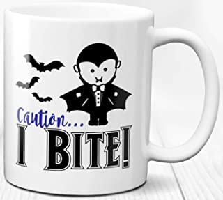 Taza de café espeluznante Tema de Halloween 330 ml Taza de cerámica de vampiro y monstruo aterrador para niños