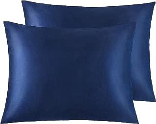 navy satin pillowcase