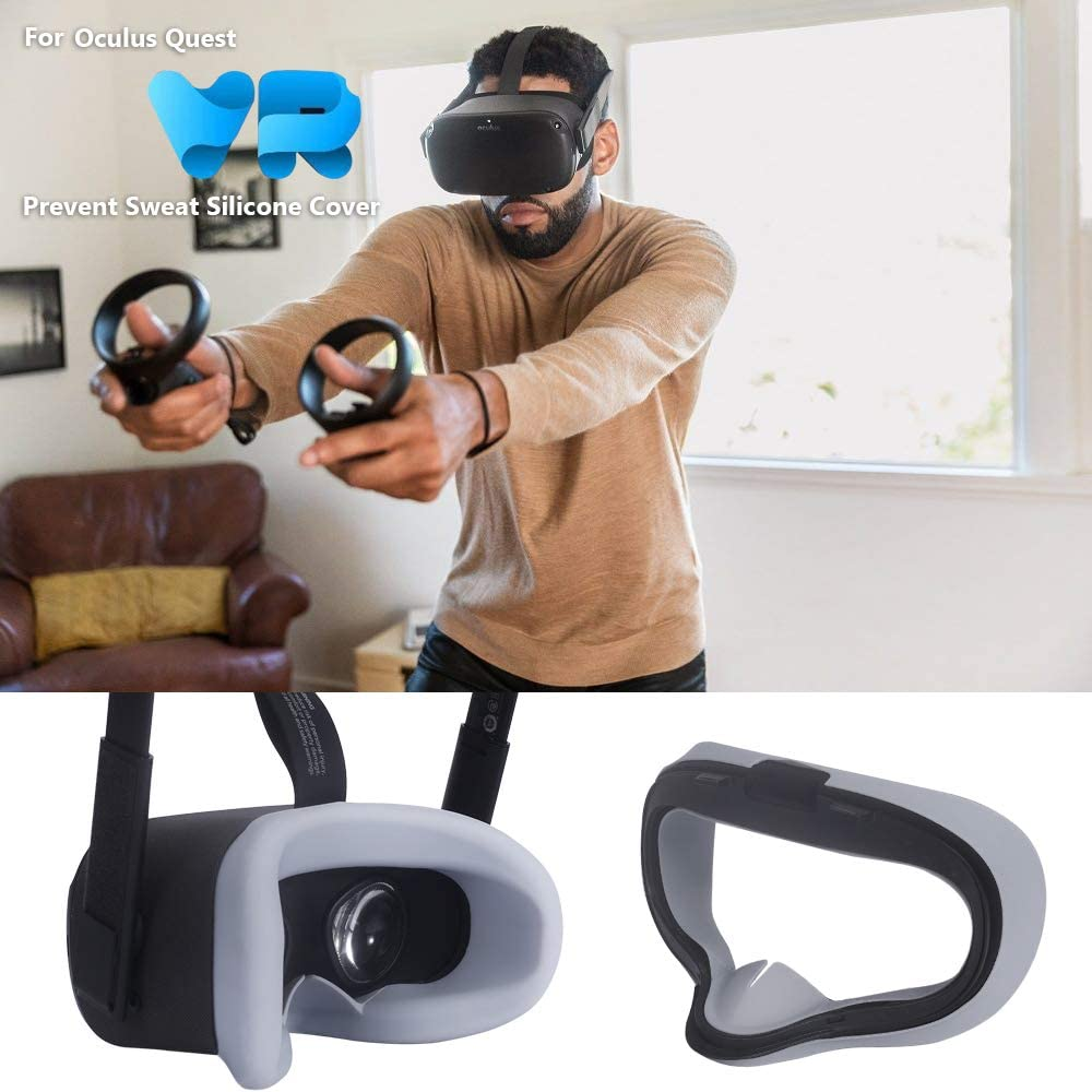 Gray Esimen VR Face Silicone Mask Pad /& Face Cover for Oculus Quest Rocker Cap Face Cushion Cover Sweatproof Lightproof