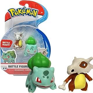 Bandai - Pokémon - Pack de 2 figurines 3-5 cm - Osselait & Bulbizarre - WT95031
