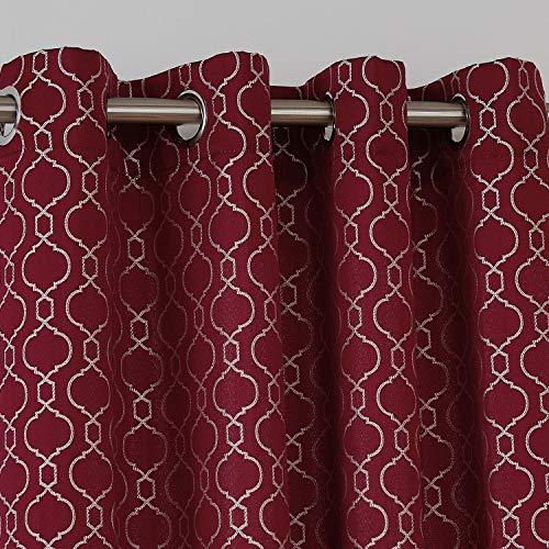 cortinas habitacion matrimonio rojas