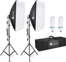 HPUSN Softbox Lighting Kit Professional Studio Photography Continuous Equipment with 85W..
