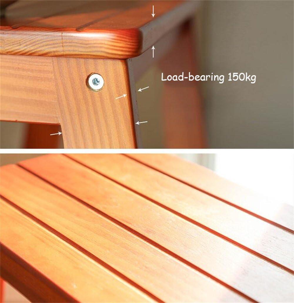 LGQ-JJU Escabeau, Chaise De Bar Échelle en Bois Multi-Usage pour Échelle (Couleur : Naturel) Naturel