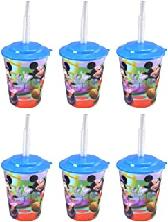 6-Pack Mickey Mouse Clubhouse 12oz Lenticular Tumbler Cups with Lids & Straws