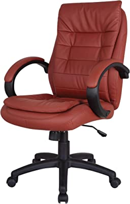 Major-Q High Backrest Red PU Comfort Adjustable 360° Swivel Executive Home Office Computer