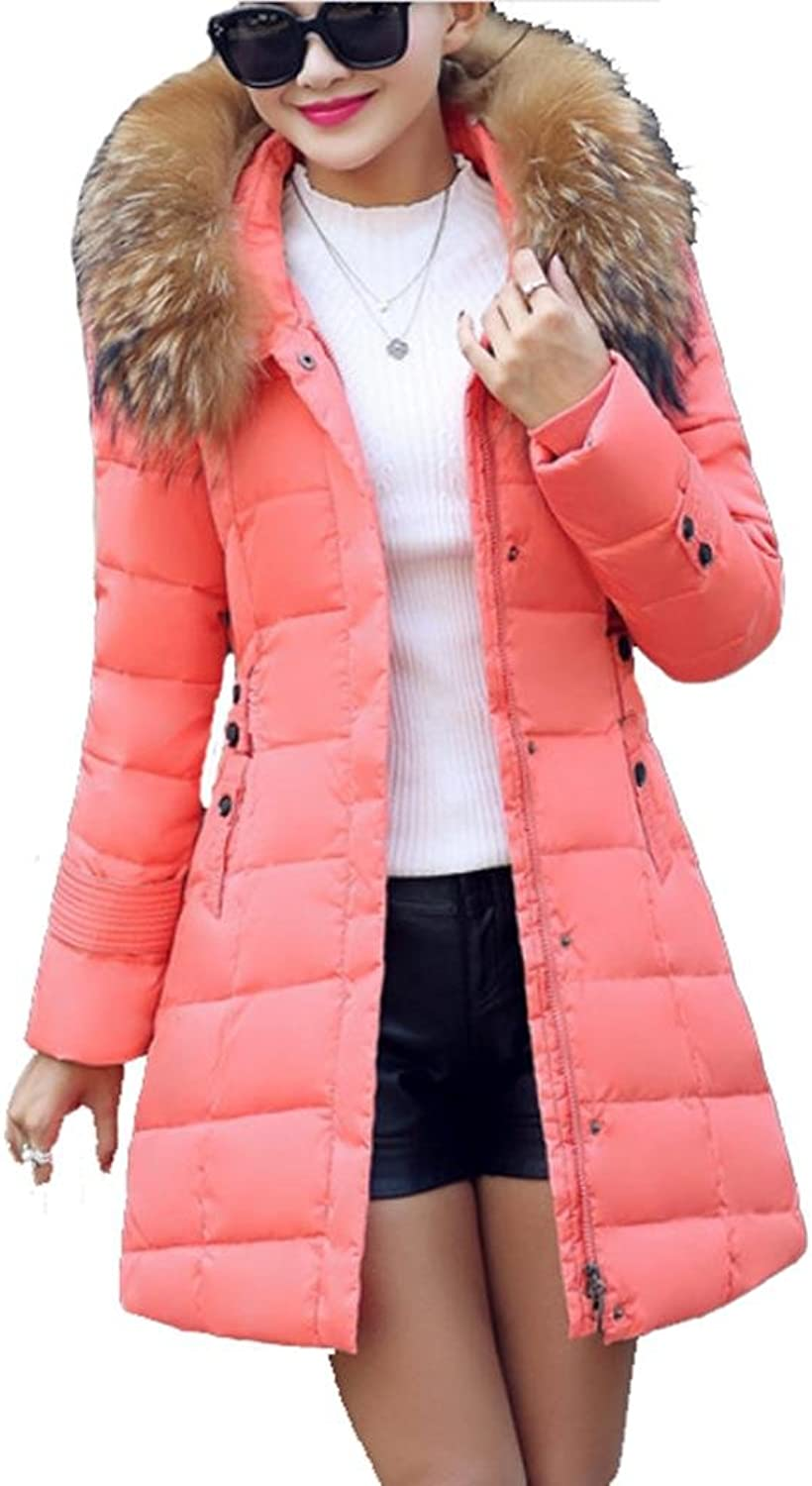 YANXH The New Winter Down Cotton Clothing In The Long Section Big Collar Women's Clothing Coat