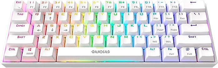 Teclado Mecânico Gamer 60% GAMDIAS Hermes E3 RGB Branco Switch Blue ANSI - E3 RGB WH BLUE