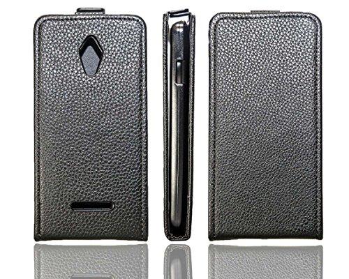 caseroxx Flip Cover für Vodafone Smart 4 Turbo, Tasche (Flip Cover in schwarz)