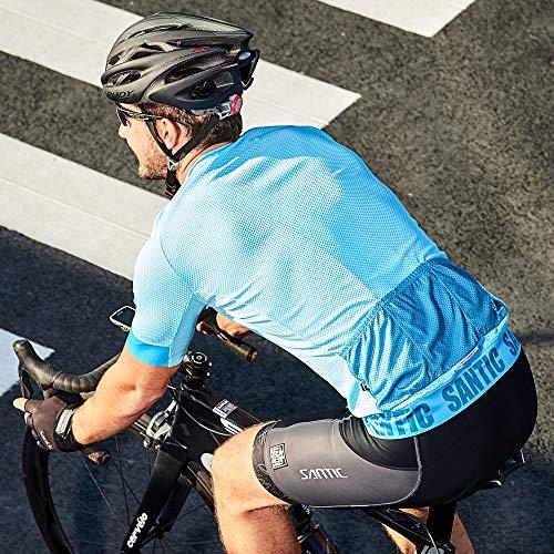 【サンティック】Santicメンズビブショーツビブパンツサイクルパンツサイクルウェア自転車3Dパッド付き吸汗速乾グレーM