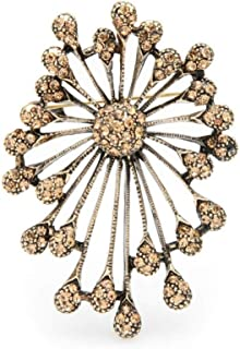 CLEARNICE Retro Plata Color Firework Flor Brooches Mujeres Hombres Broche Pines Regalos