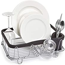 Umbra Sinkin Multi-Use Drying Rack – Dish Drainer Caddy with Removable Cutlery Holder Fits in Sink or on Counter top, Larg...