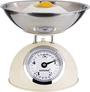 Korona 76151 Retro balance de cuisine PAUL | capacité 5 kg, graduation 20 g | plateau en acier inoxydable inclus | tare - ...