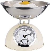 Korona 76151 Retro balance de cuisine PAUL   capacité 5 kg, graduation 20 g   plateau en acier inoxydable inclus   tare - ...