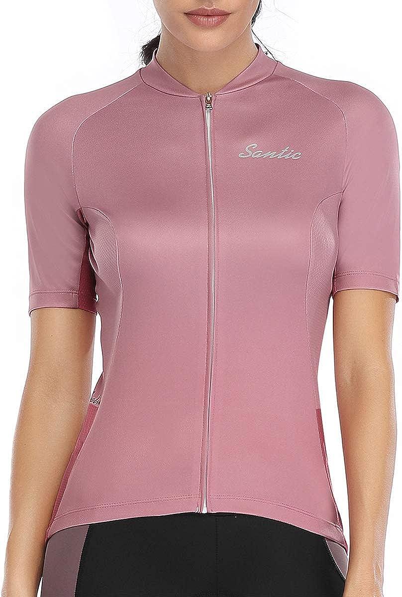 Santic Women Cycling-Jersey Short-Sleeve - Full Los Angeles Mall Bike-Jersey Zip Max 81% OFF