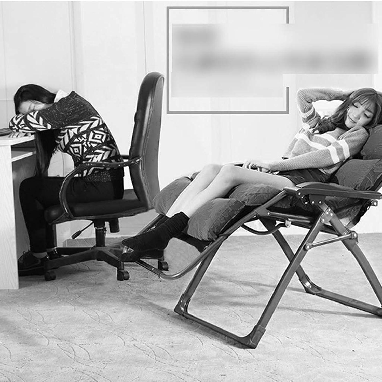 GCCI Liegestuhl Klappstuhl Büro Siesta Stuhl Freizeit Lazy Couch Chair,Braun,
