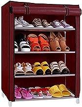 Ebee 4 Shalves Shoe Cabinet (Maroon)