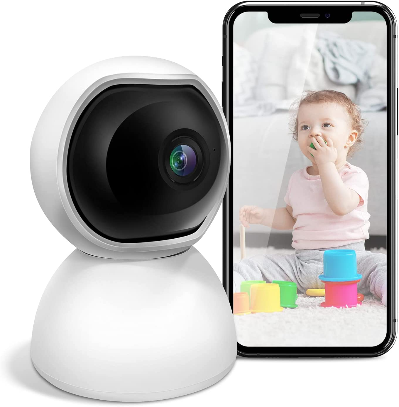 2021 Baby Monitor & Security Camera-- 2-Way Audio & Motion Tracking & Alarm Area & Monitoring Timeline -- Always Protect Your Family