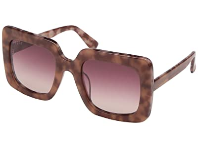 DIFF Eyewear Sasha (Plum/Wine) Fashion Sunglasses