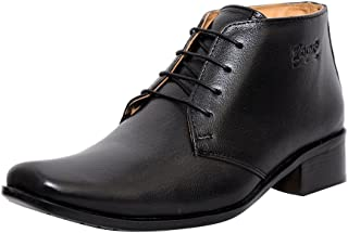 Zoom Shoes for Mens Boots Genuine Leather Shoes and Formal Shoes G-71-Black Shoes