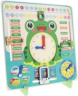 CUTICATE Daily Calendar, Seasonal Daily Calendar Board, Preschool Education & Cognitive Toy For Kids Boys & Girls