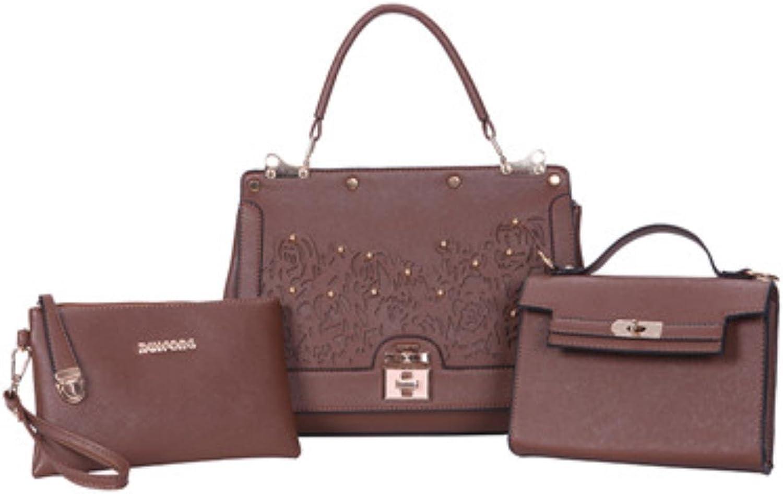 Fashion Flowers Women Handbags 3 Set Composite Bag Luxury Handbags Women Bags Designer Sequined Crossbody Bag