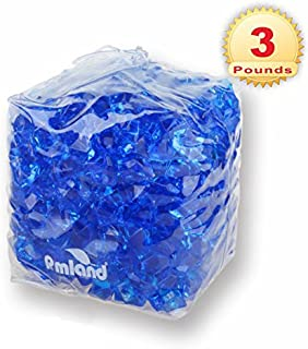 PMLAND Acrylic Ice Rocks Crystals Cubes Gems for Vase Filler, Table Scatter, Home Party Event, Wedding, Arts Crafts, Decoration Display Idea- Royal Blue, 3 lbs Bag