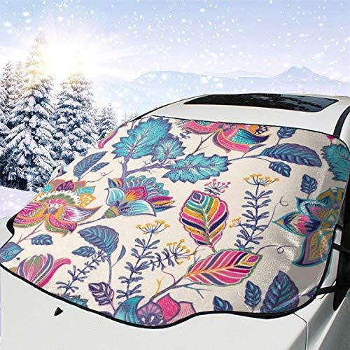 Cubierta de nieve para parabrisas de automóvil brillante en estilo Paisley Cubiertas de nieve para parabrisas de automotriz para camiones Suvs Mpvs mantiene la nieve del hielo apagada, 147x118cm