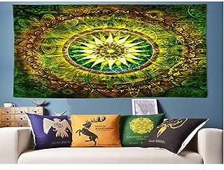 Jiamingyang Flower Elephant Print Wall Hanging Tapestry Bohemian Room Decor Bedding Rug (Large/80