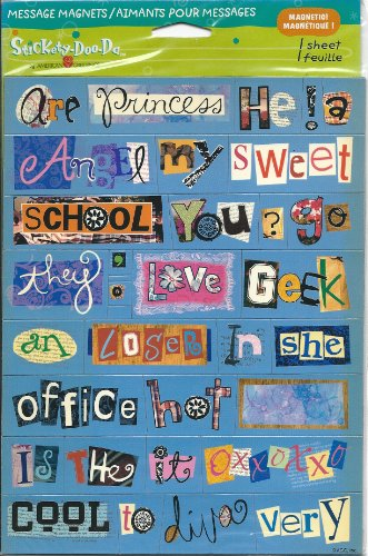 Message Magnets Stickety Doo Da Magnetic Sheet