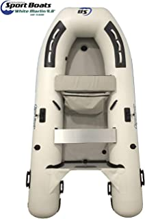 Inflatable Sport Boats - White Marlin 9.8' - Model SB-300A - Air Deck Floor Premium Dinghy with Seat Bag