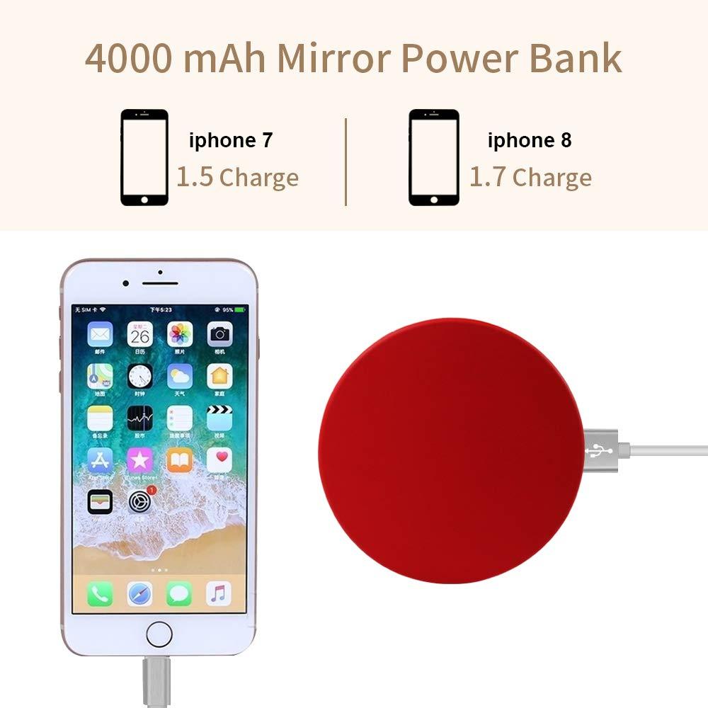 Momoho - Cargador de Espejo Compacto con batería de 4000 mAh de ...