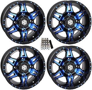 """STI HD7 UTV Wheels/Rims Blue/Black 14"""" Polaris RZR 1000 XP/Ranger XP 900/1000"""