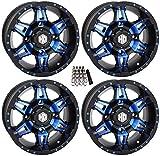 STI HD7 UTV Wheels/Rims Blue/Black 14' Polaris RZR 1000 XP/Ranger XP 900/1000