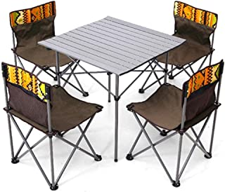 Portable Camping Chair Best Padded Camping Outdoor Folding Table and Chair Set,Portable Car Picnic Camping Self-Driving To...