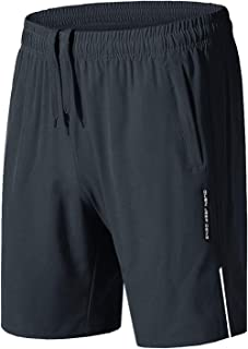 Men's Running Shorts Quick Dry Gym Workout Shorts with...