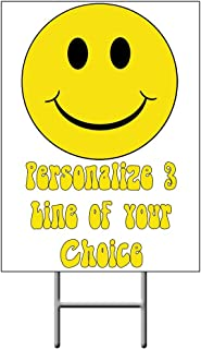 Smiley FACE Yard Sign (Each) - Customized by Partypro