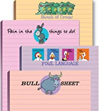 Funny Adult Note Pad Assorted Pack - 4 Novelty Notepads - Funny Office Supplies
