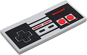 Bumkins Nintendo Silicone Teether, Textured, Soft, Flexible, Bacteria Resistant - NES Controller