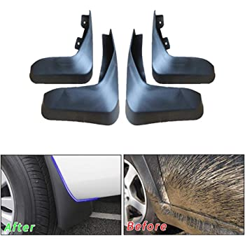 Upgraded Tire Mud Flaps Auto Splash Guards for 2004-2010 KIA Sportage Front Rear Mudguards Wheel Accessories Styling /& Body Fittings 4Pcs Black