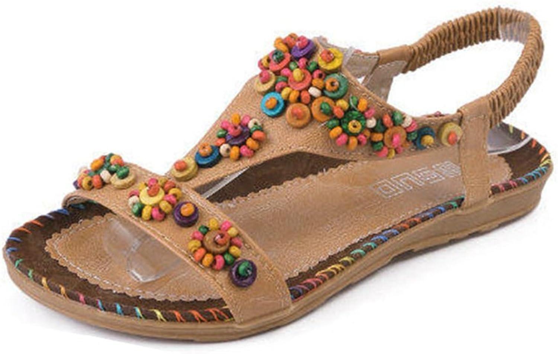 GIY Womens Glitter Thong Flat Sandals Elastic Ankle Strap Bohemian Sandal Slip-on Summer Beach shoes