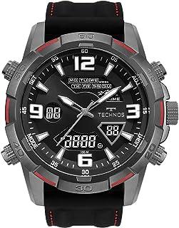 Relógio Technos Masculino com Pulseira de Silicone Preta