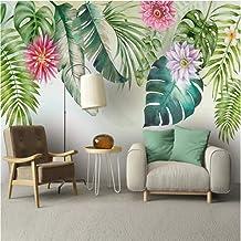 Ponana Papel Pintado Mural Moderno Del Sudeste Asiático 3D Plantas Tropicales Hojas Verdes Floral Acuarela Estilo Mejoras ...