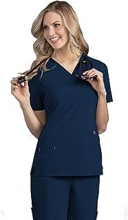 Smitten Women's Soft Lightweight 4-Way Stretch Medical V-Neck Scrub Top