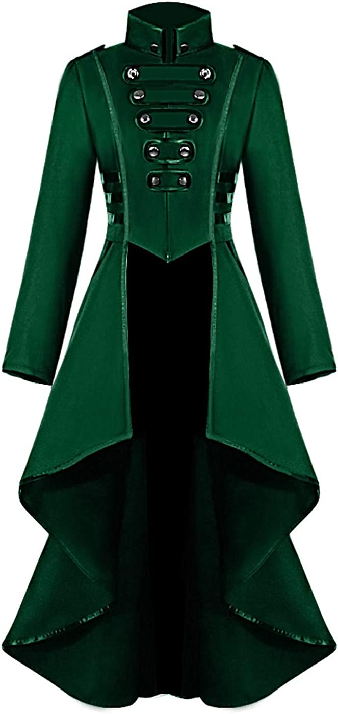 Gothic Indefinitely Steampunk Tailcoat Jacket for Irregular Vintage Women Max 80% OFF He