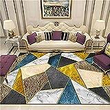 Alfombra Pelo Corto Salon Alfombras Salon Baratas Kleine Teppiche gelbe blaue Schlafzimmerdekoration Komfortable abrasive Methode, um sich um den Teppich der Kinder zu kümmern Alfombra Lavable Salon 1